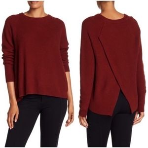 Madewell Cross Back Rust Province Sweater